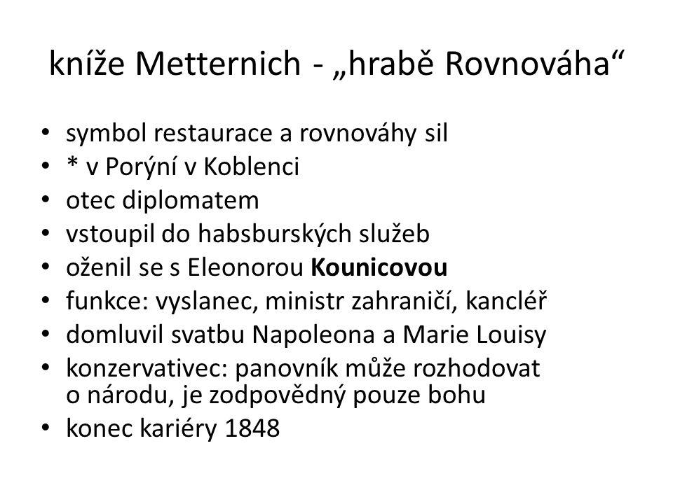 """kníže Metternich - """"hrabě Rovnováha"""