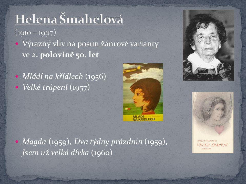Helena Šmahelová (1910 – 1997) Výrazný vliv na posun žánrové varianty
