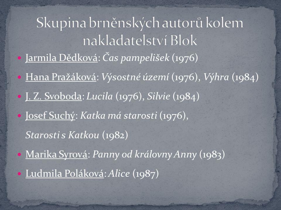 Skupina brněnských autorů kolem nakladatelství Blok
