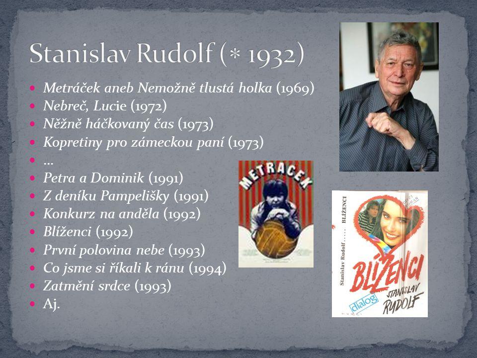 Stanislav Rudolf ( 1932) Metráček aneb Nemožně tlustá holka (1969)
