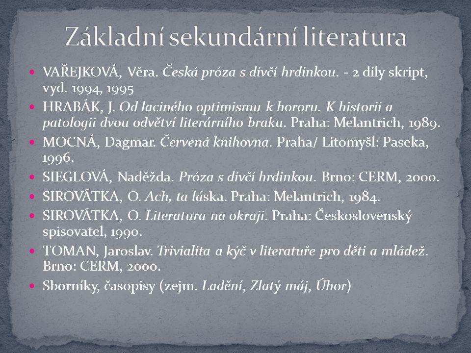 Základní sekundární literatura