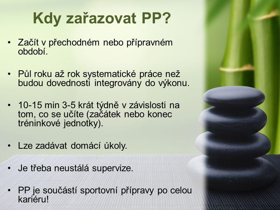Kdy zařazovat PP Začít v přechodném nebo přípravném období.