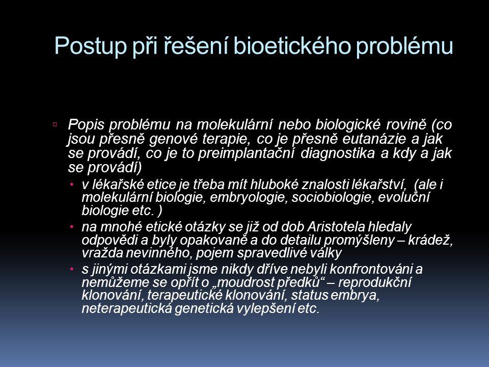 Postup při řešení bioetického problému