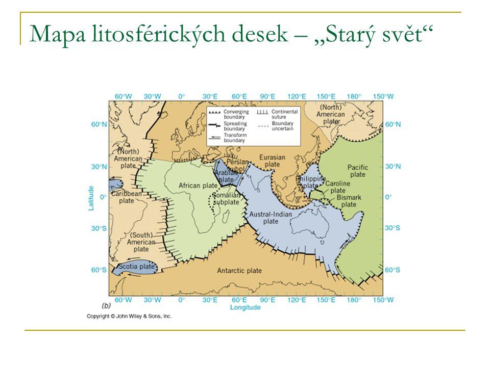 """Mapa litosférických desek – """"Starý svět"""