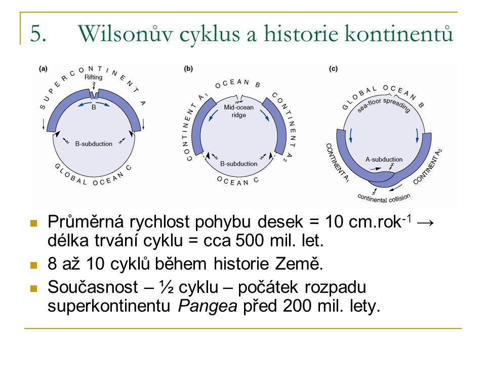 5. Wilsonův cyklus a historie kontinentů