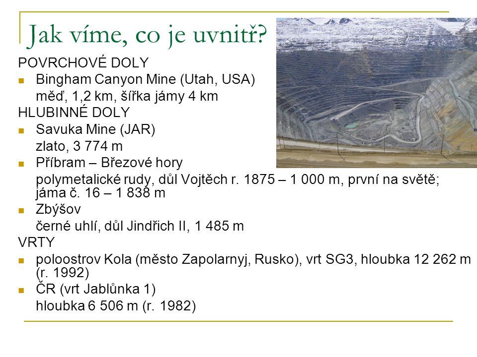 Jak víme, co je uvnitř POVRCHOVÉ DOLY Bingham Canyon Mine (Utah, USA)
