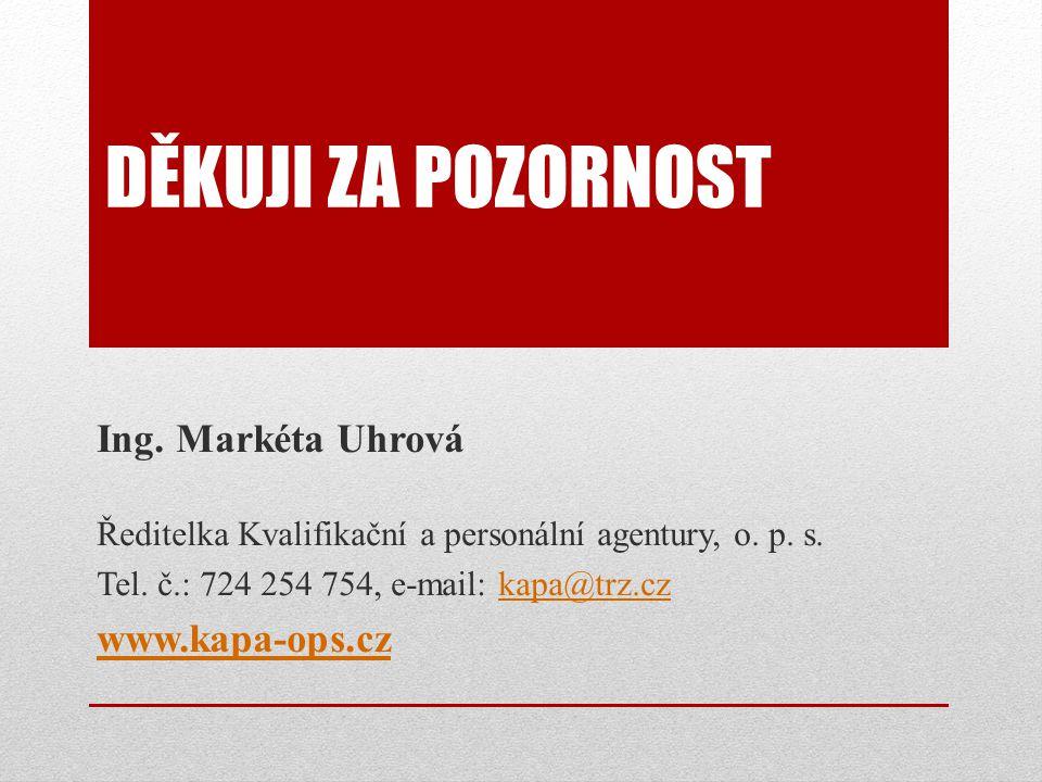 Děkuji za pozornost Ing. Markéta Uhrová www.kapa-ops.cz
