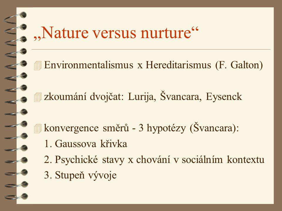"""""""Nature versus nurture"""