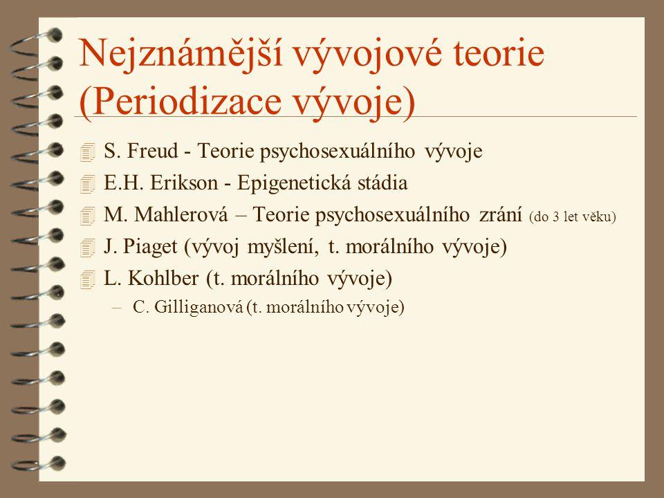 Nejznámější vývojové teorie (Periodizace vývoje)