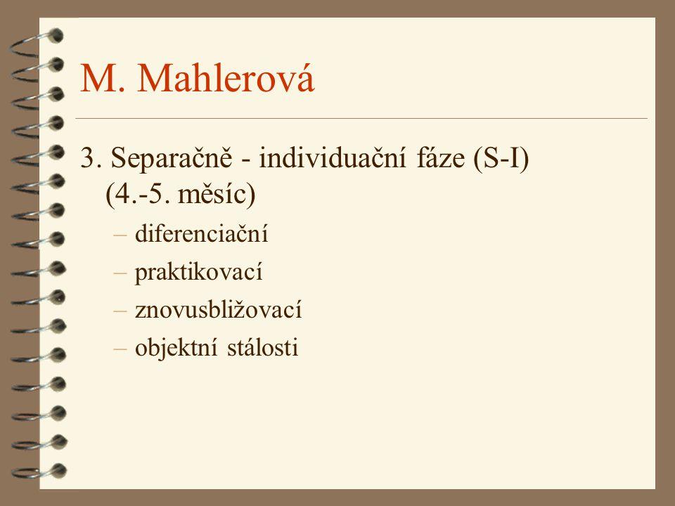 M. Mahlerová 3. Separačně - individuační fáze (S-I) (4.-5. měsíc)