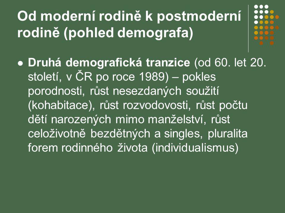 Od moderní rodině k postmoderní rodině (pohled demografa)
