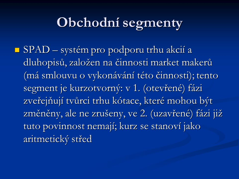 Obchodní segmenty