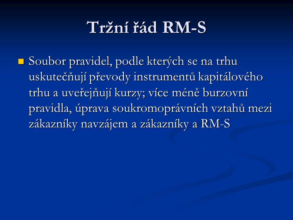 Tržní řád RM-S