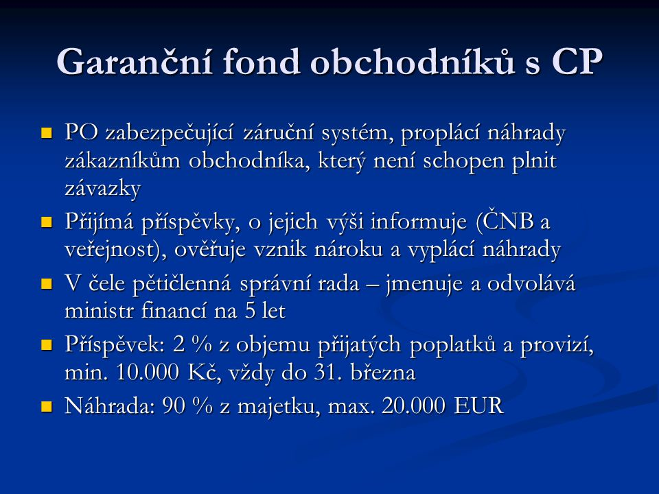 Garanční fond obchodníků s CP