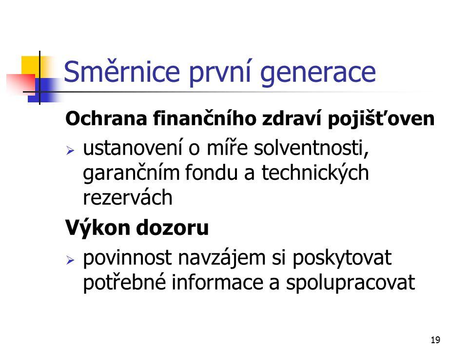 Směrnice první generace