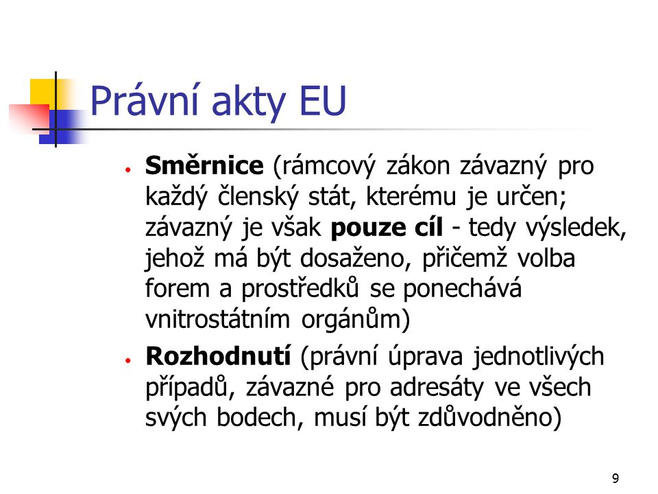 Právní akty EU