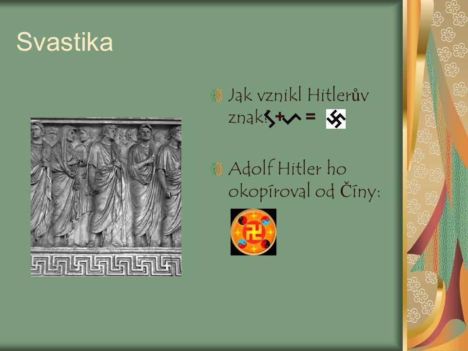 Svastika Jak vznikl Hitlerův znak + =