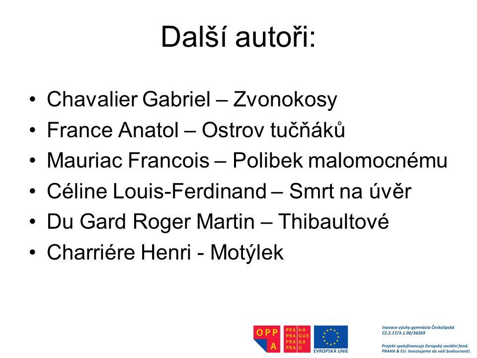 Další autoři: Chavalier Gabriel – Zvonokosy