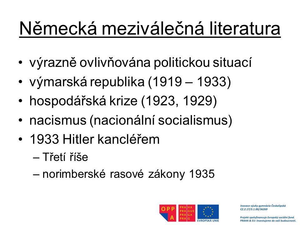 Německá meziválečná literatura