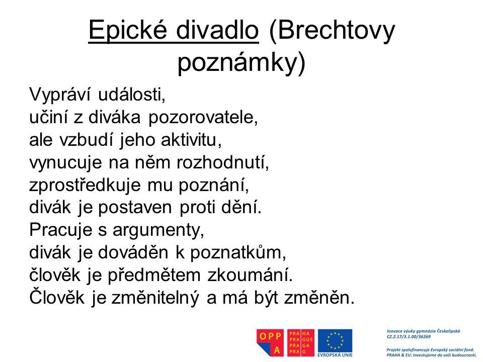 Epické divadlo (Brechtovy poznámky)