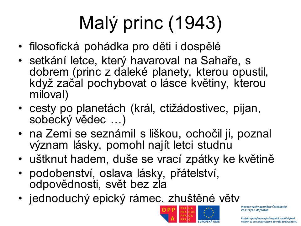 Malý princ (1943) filosofická pohádka pro děti i dospělé