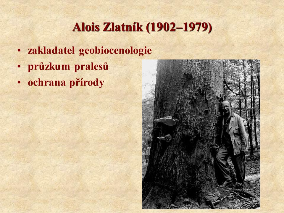 Alois Zlatník (1902–1979) zakladatel geobiocenologie průzkum pralesů