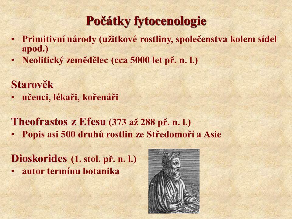 Počátky fytocenologie