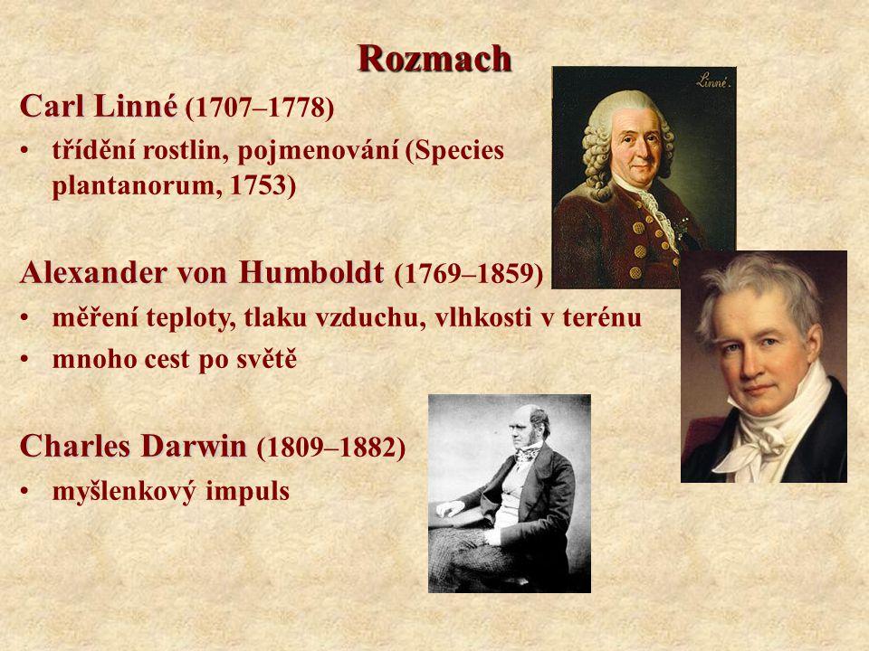 Rozmach Carl Linné (1707–1778) Alexander von Humboldt (1769–1859)