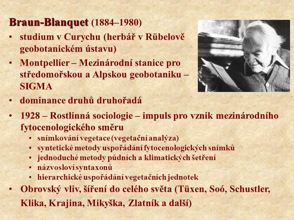 Braun-Blanquet (1884–1980) studium v Curychu (herbář v Rübelově geobotanickém ústavu)