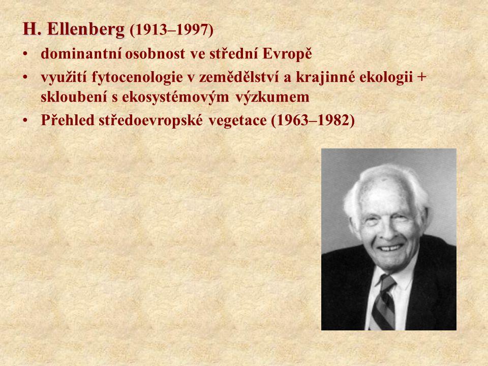 H. Ellenberg (1913–1997) dominantní osobnost ve střední Evropě