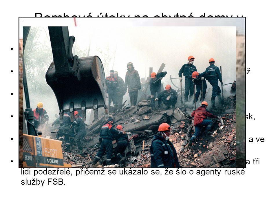 Bombové útoky na obytné domy v Rusku
