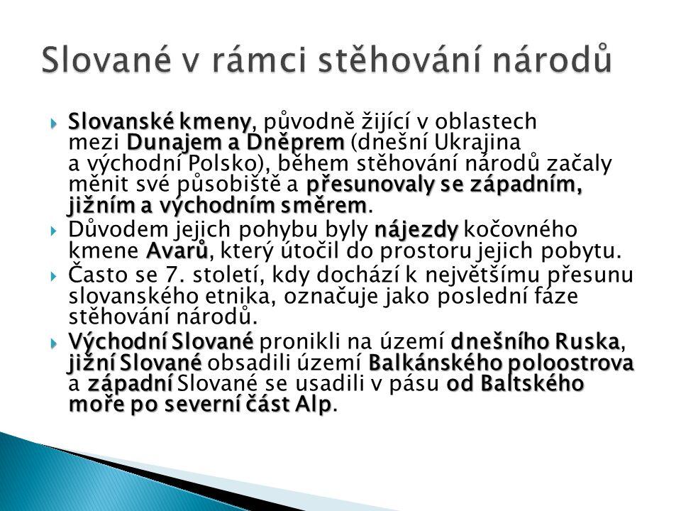 Slované v rámci stěhování národů