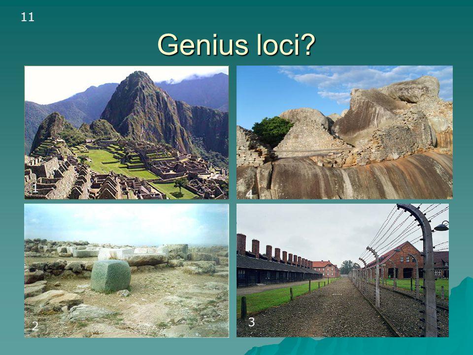 11 Genius loci 1a 1 4 3 2