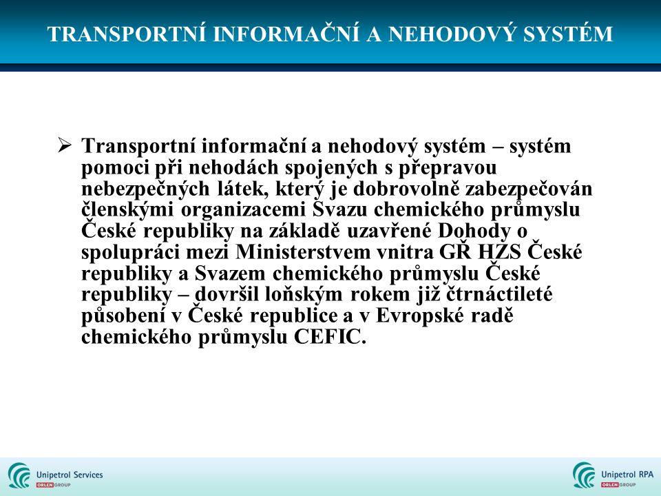TRANSPORTNÍ INFORMAČNÍ A NEHODOVÝ SYSTÉM