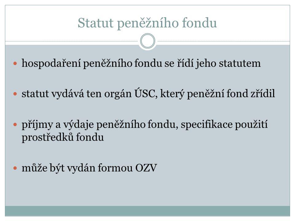 Statut peněžního fondu