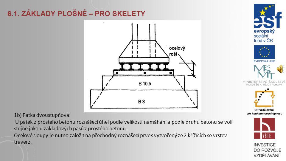 6.1. Základy plošné – pro skelety