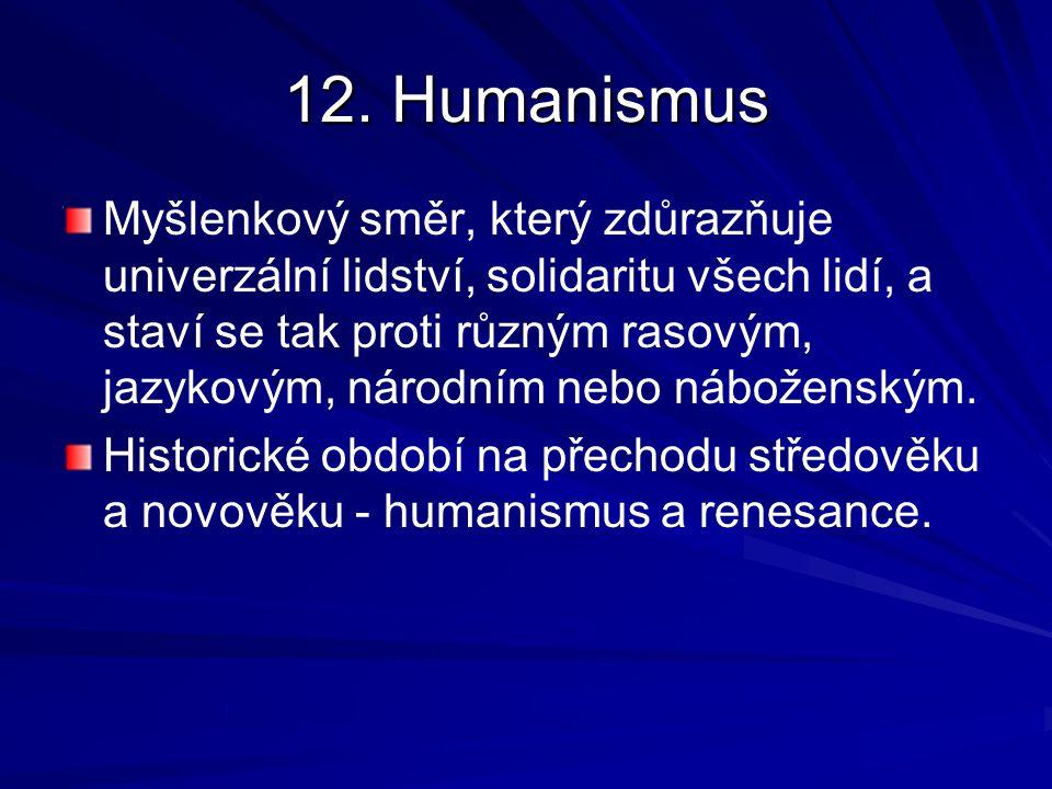 12. Humanismus