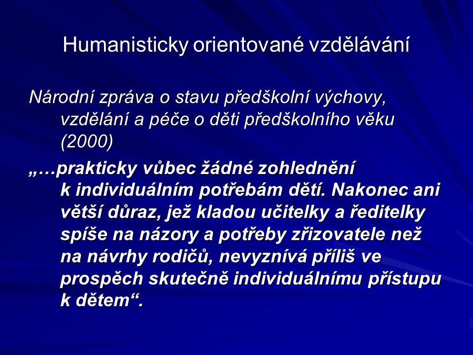 Humanisticky orientované vzdělávání
