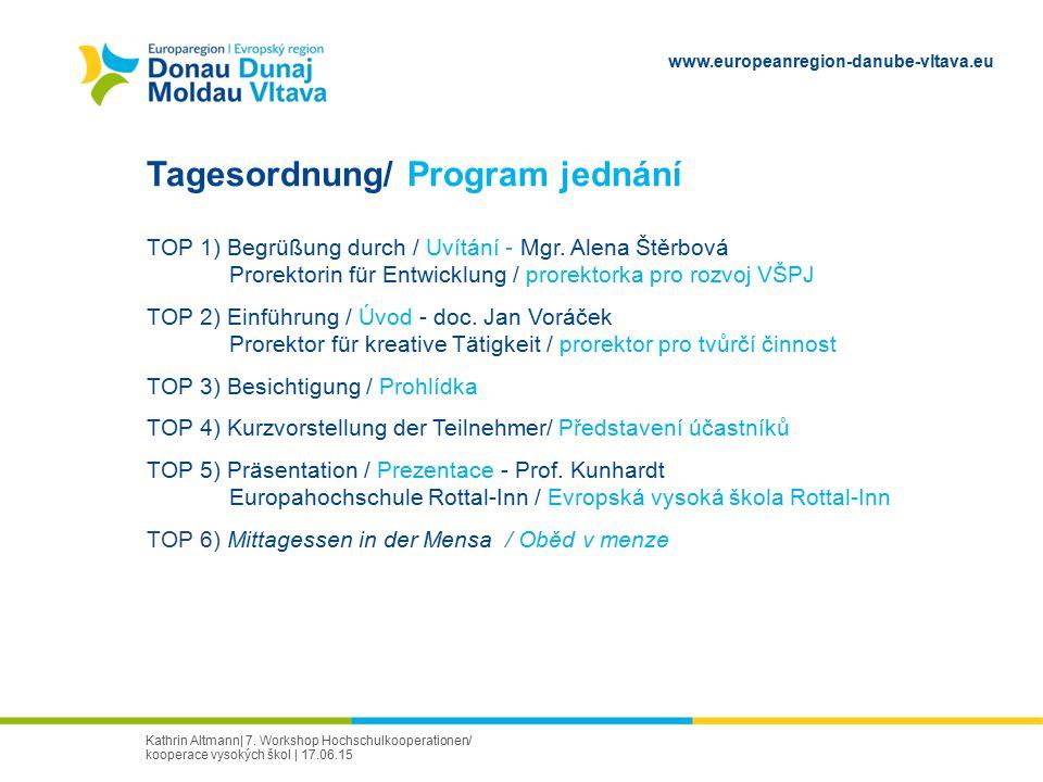 Tagesordnung/ Program jednání