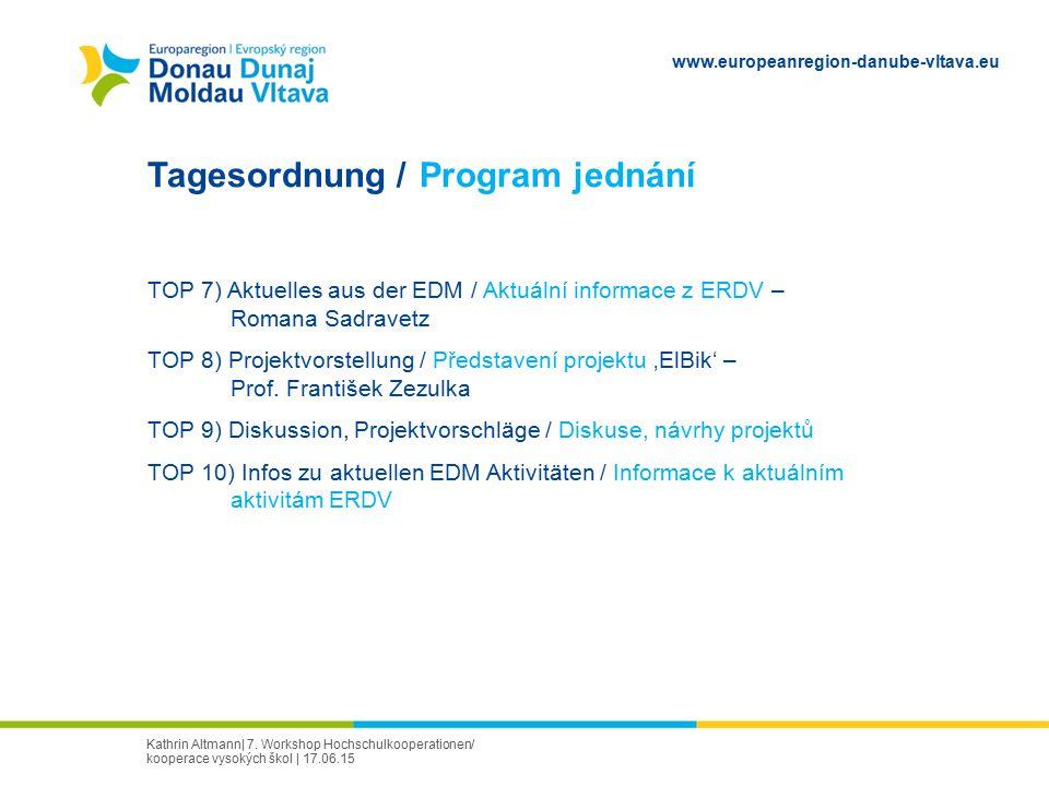 Tagesordnung / Program jednání