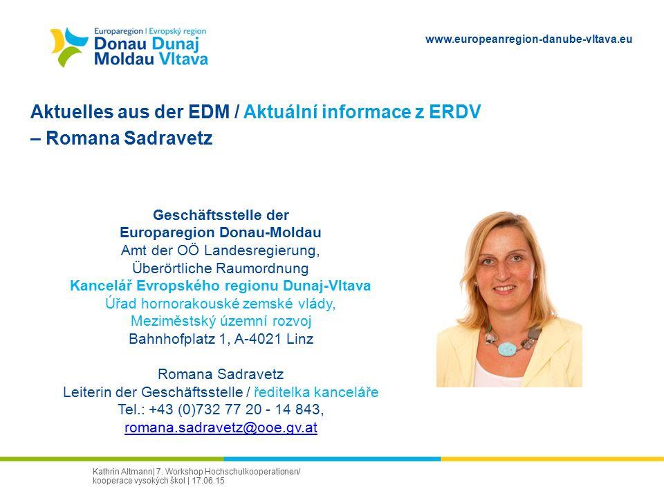 Europaregion Donau-Moldau Kancelář Evropského regionu Dunaj-Vltava