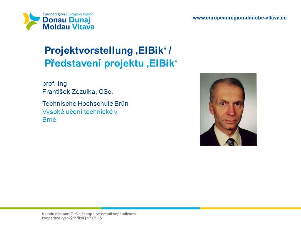 Projektvorstellung 'ElBik' / Představení projektu 'ElBik'