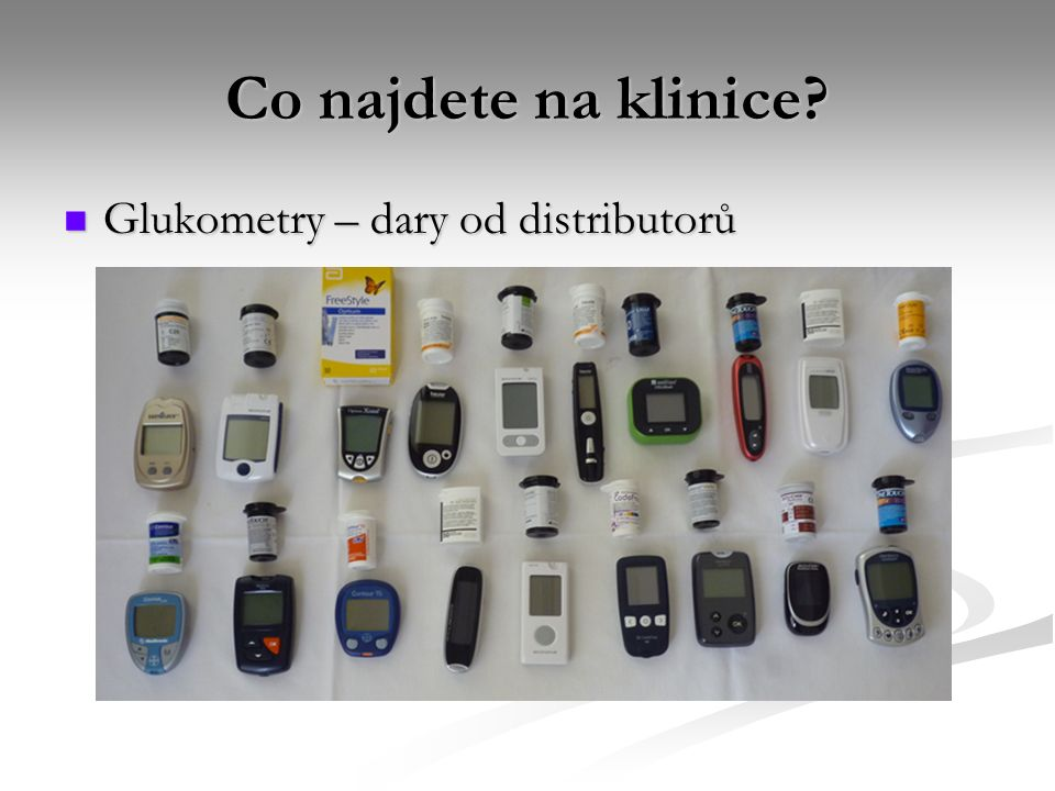 Co najdete na klinice Glukometry – dary od distributorů