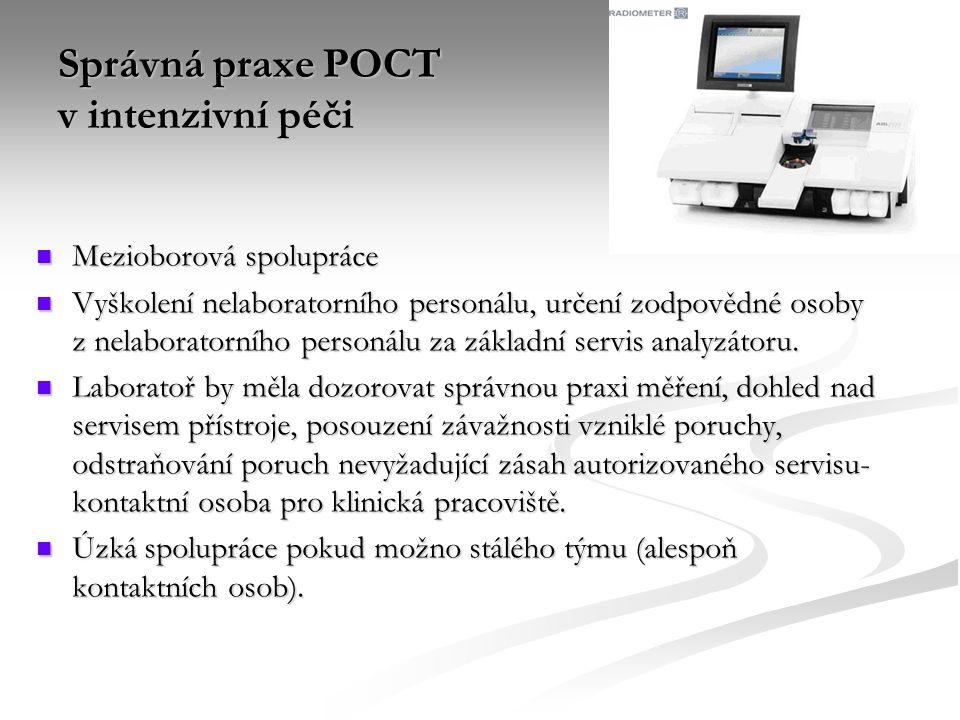 Správná praxe POCT v intenzivní péči
