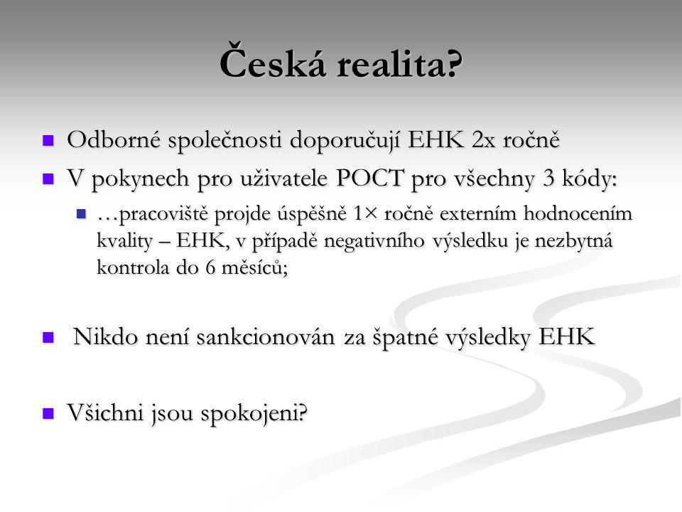 Česká realita Odborné společnosti doporučují EHK 2x ročně
