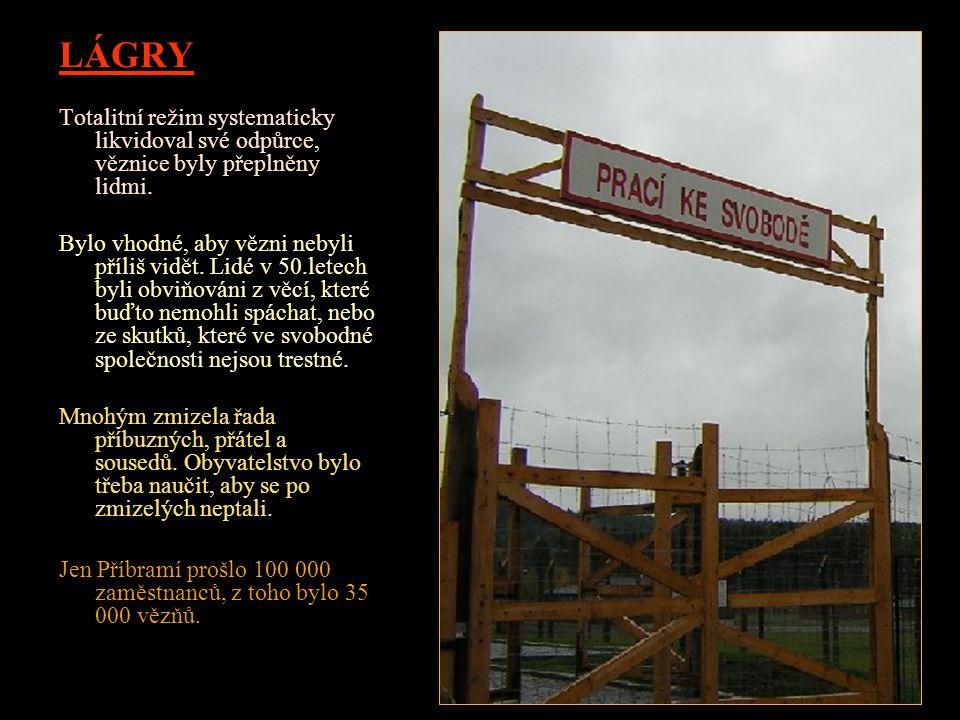 LÁGRY Totalitní režim systematicky likvidoval své odpůrce, věznice byly přeplněny lidmi.