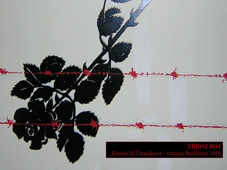 TŘÍDNÍ BOJ Kresba M.Čermákové - věznice Pardubice 1950