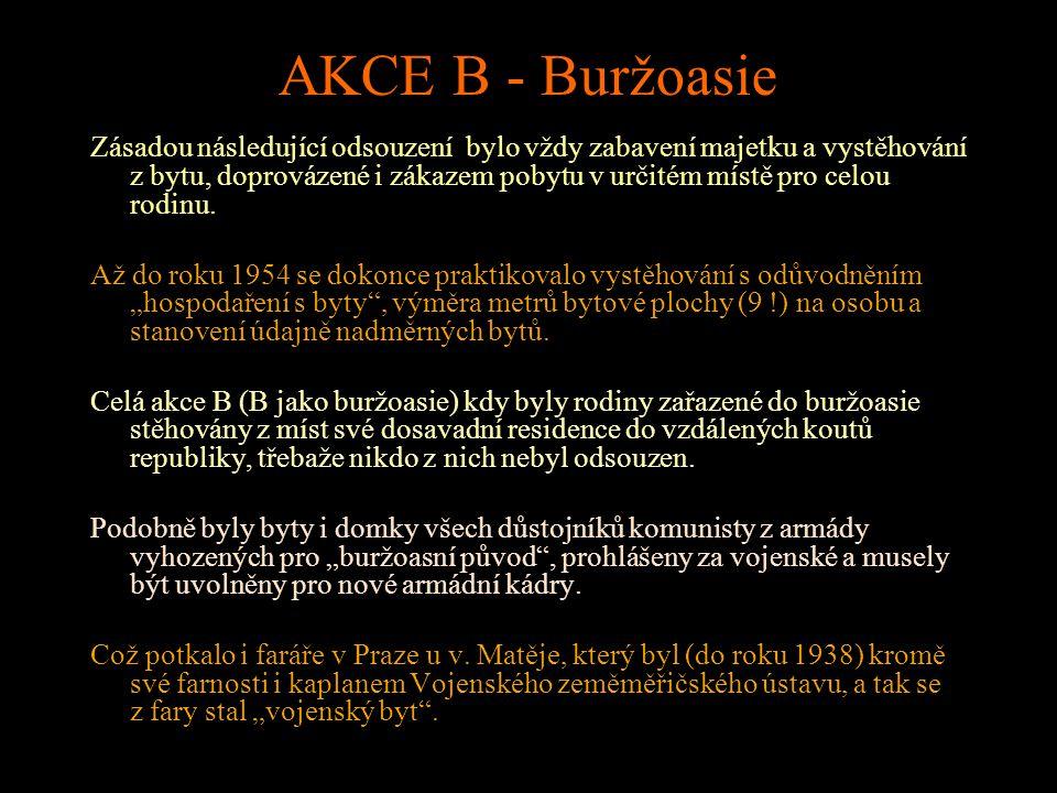 AKCE B - Buržoasie