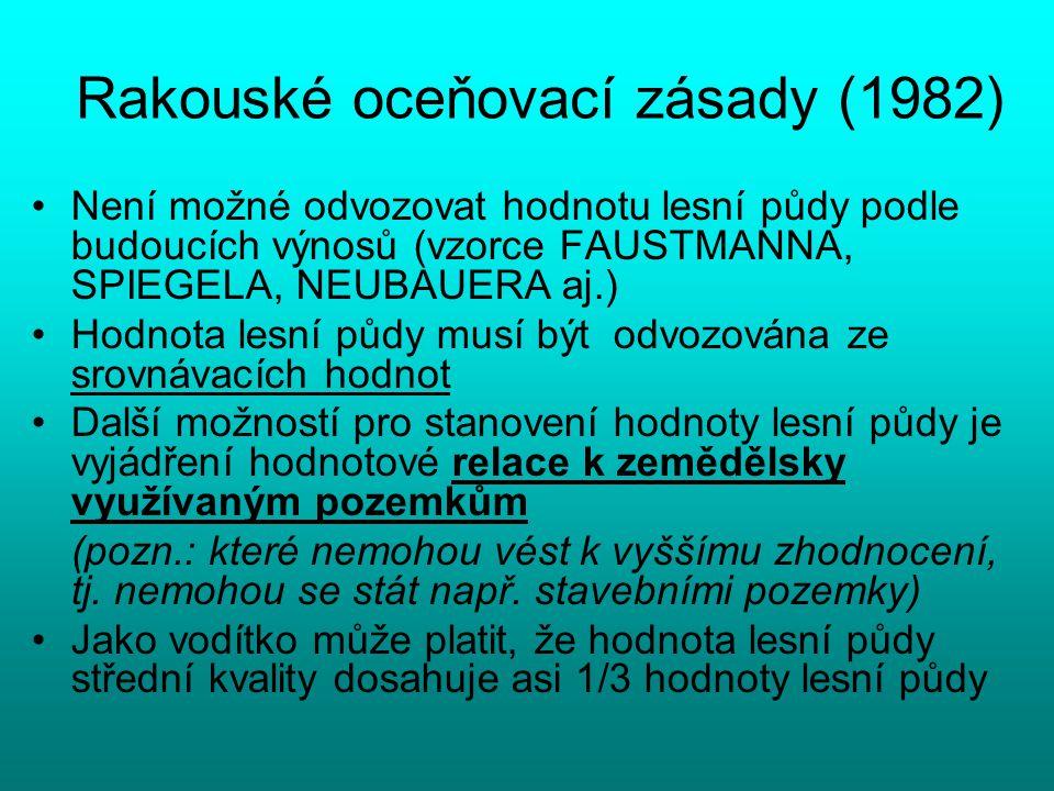 Rakouské oceňovací zásady (1982)