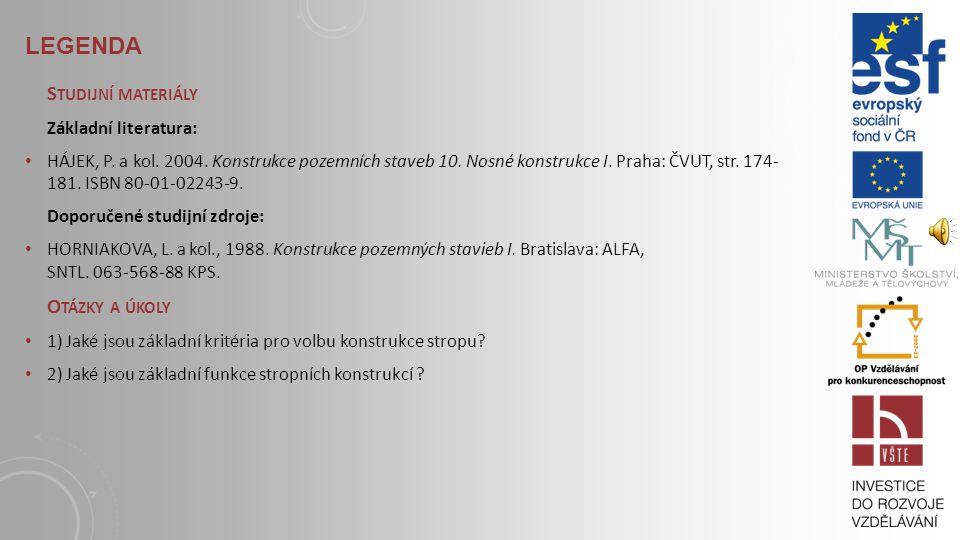 Legenda Studijní materiály Otázky a úkoly Základní literatura: